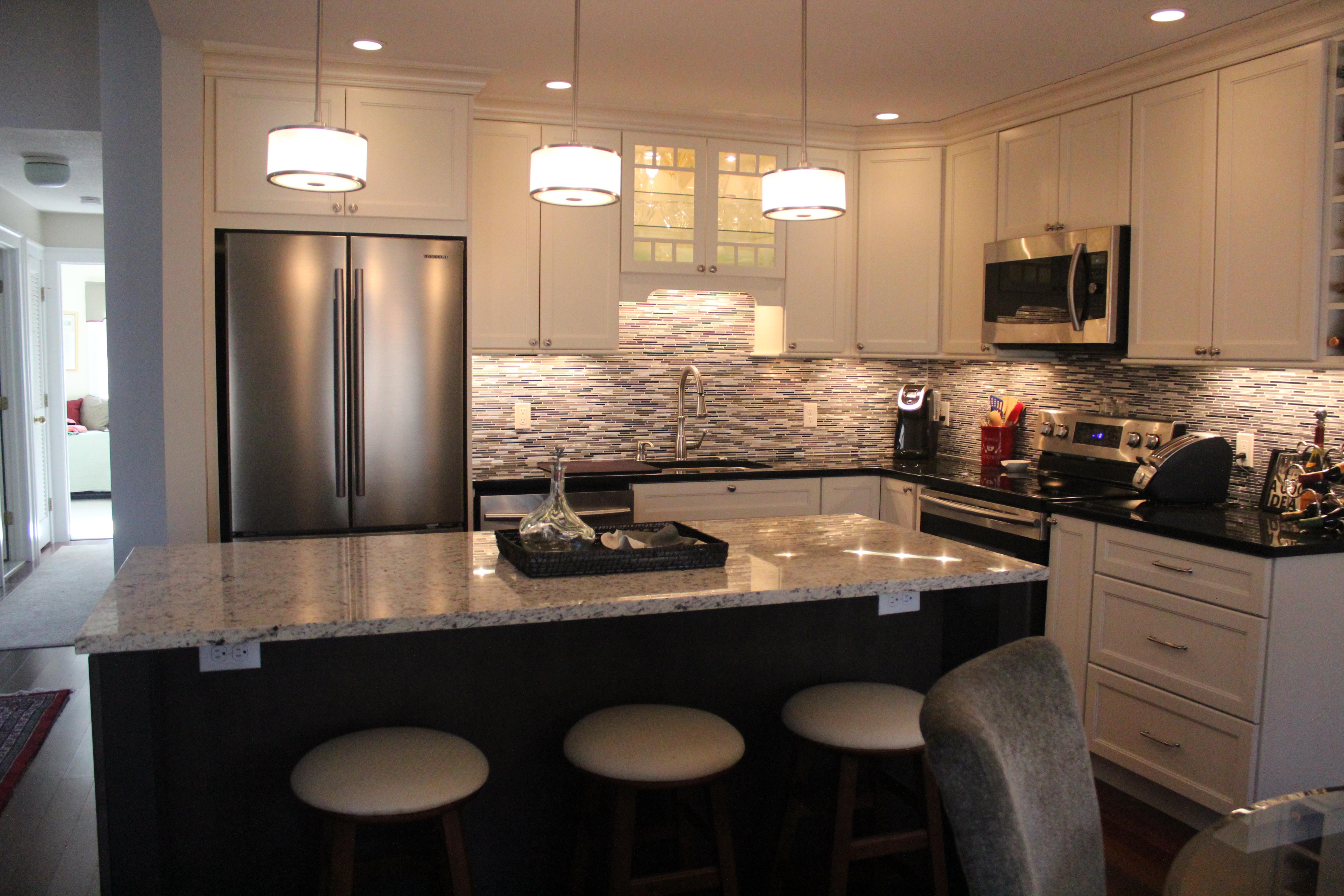 Open spaces a condominium kitchen remodel – Long Custom Carpentry
